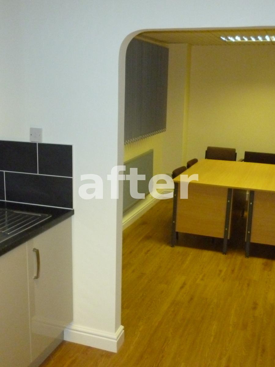 Lichfield Road Industrial Estate kitchen after
