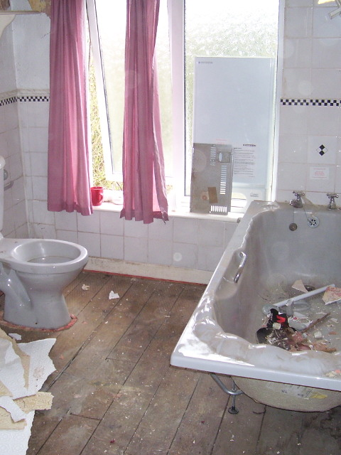 bathroom during